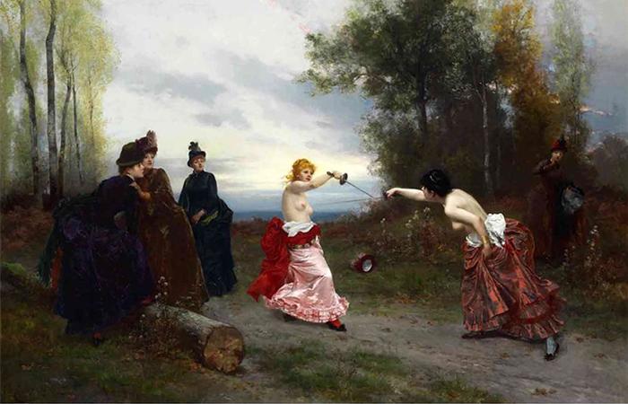 Из истории женских дуэлей в XIX веке