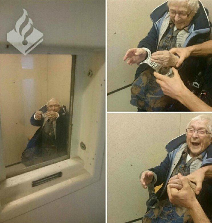 2. Только что арестованная 99-летняя бабулечка Радость, в мире, люди, прикол, юмор