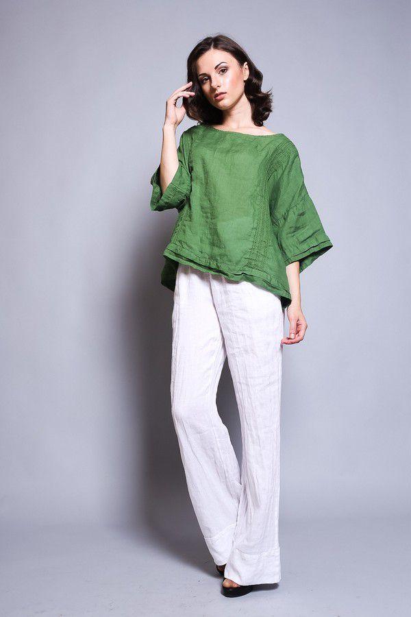 льняная одежда, стильный образ