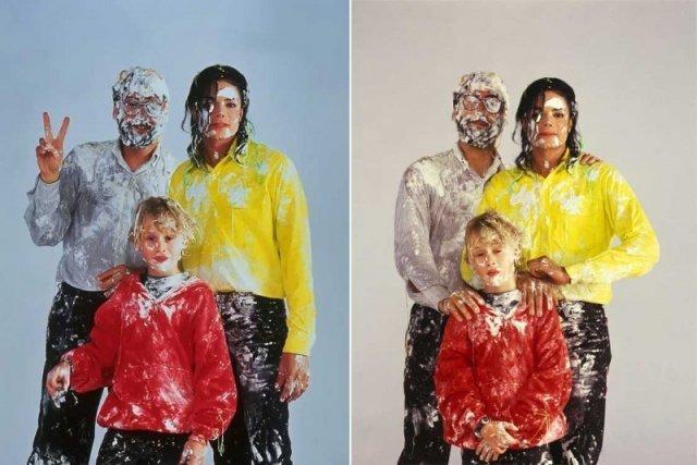 Джон Лэндис, Майкл Джексон и Маколей Калкин на съемках музыкального видео Black Or White история, люди, мир, фото