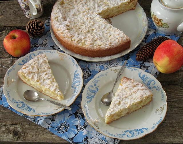 Польский яблочный пирог (Szarlotka z budyniem)