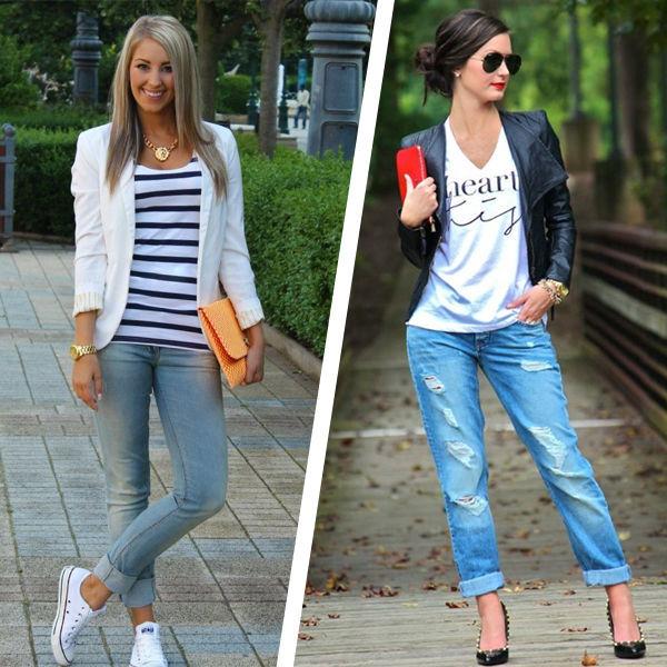 Как носить футболку с разными фасонами джинсов: 5 стильных комбинаций