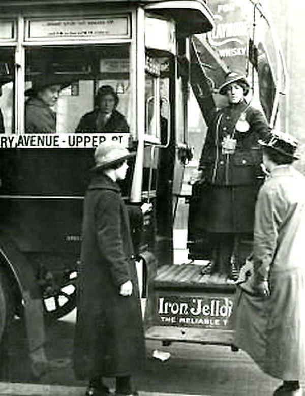 Водитель женского пола General Omnibus, 1916 год. Весь Мир в объективе, ретро, старые фото