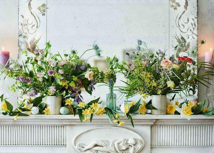 Весенние цветы в интерьере квартиры: освежающий декор.