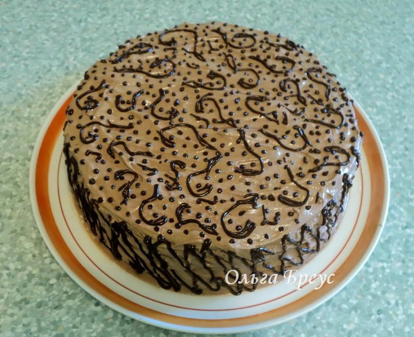Торт на яичном ликере + рецепт домашнего яичного ликёра