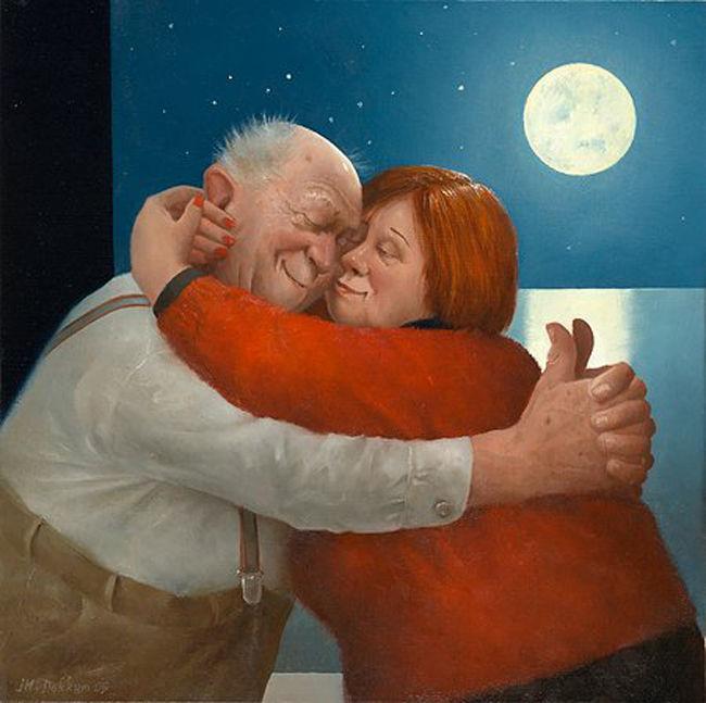 Когда старость в радость: оптимистичные работы голландского художника Marius van Dokkum, фото № 9