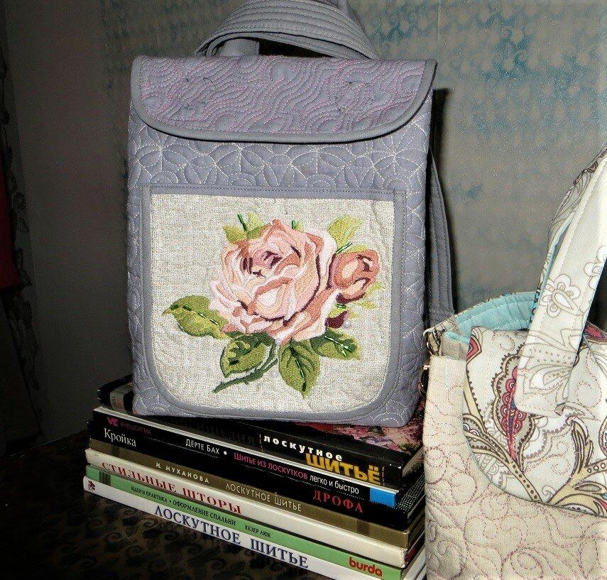 """""""Винтажный"""" рюкзачок и женская сумочка, сшитые по одному простому принципу"""