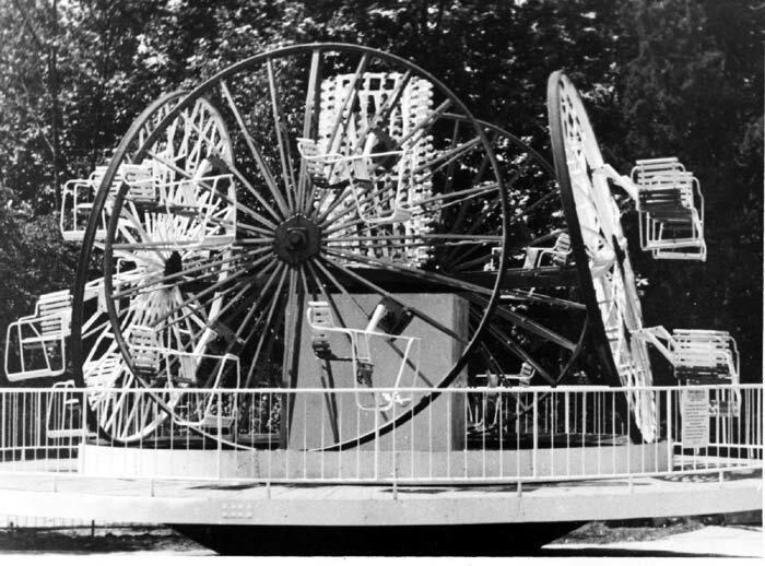 """5. """"Бегунок"""", 1957 СССР, парковые аттракционы, советские аттракционы, фото"""