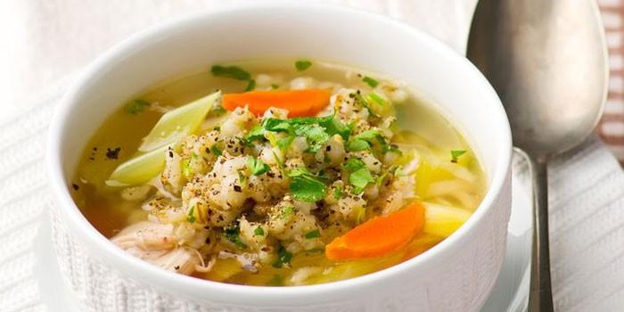 Диетический перловый суп на …