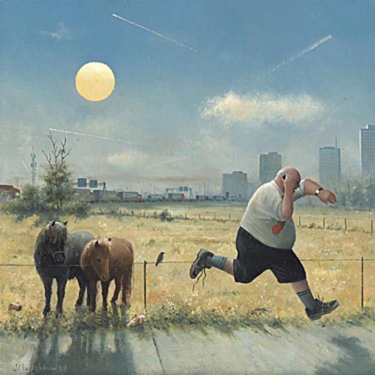 Когда старость в радость: оптимистичные работы голландского художника Marius van Dokkum, фото № 16