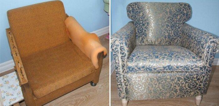 Когда набьешь руку, можно начать на этом зарабатывать до и после, идея, мебель, ремонт, своими руками, фантазия