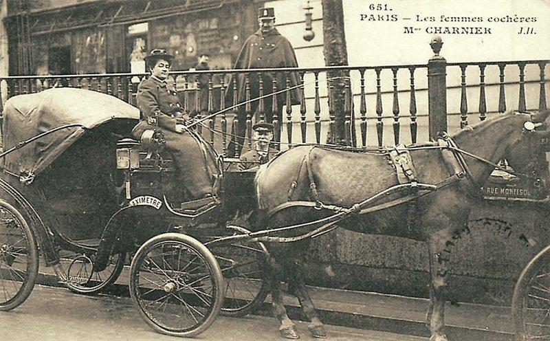 Извозчица Парижа Весь Мир в объективе, ретро, старые фото