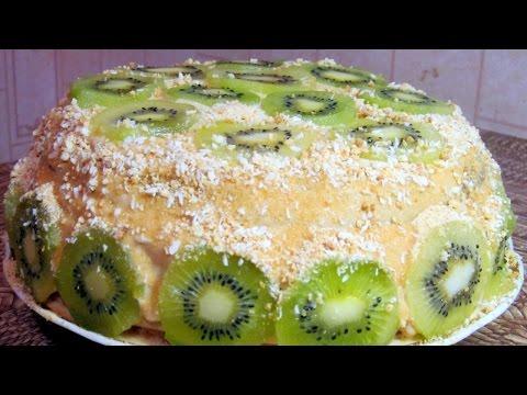 Торт с бананом и киви