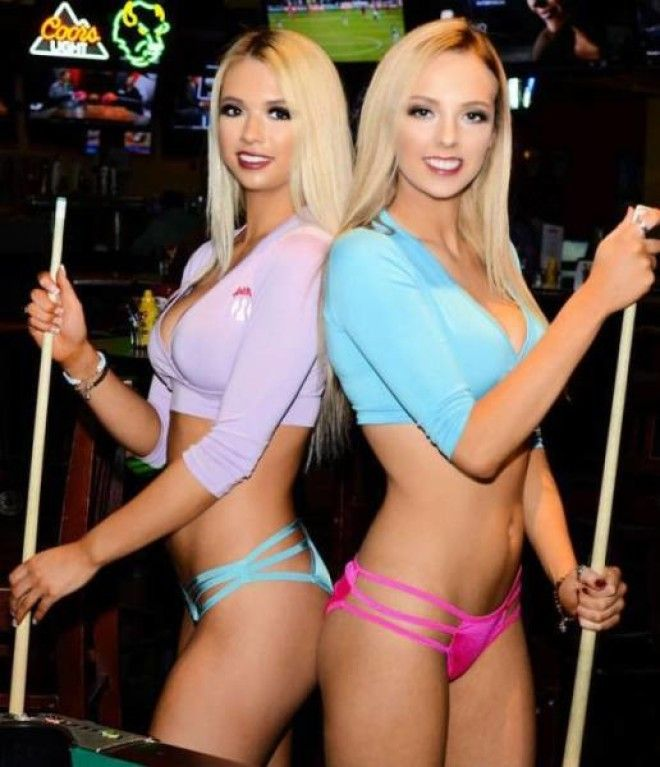 Beauties waitresses from sport bars