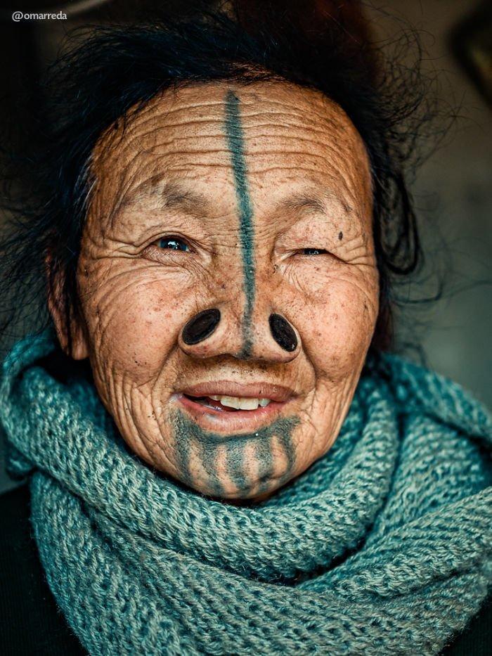 9. апатани, женщина, индия, народ, портрет, традиция, фотография, фотомир