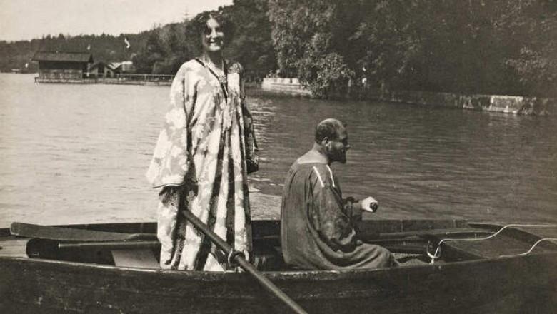 Густав Климт и единственная и главная любовь всей его жизни Эмилией Флеге.