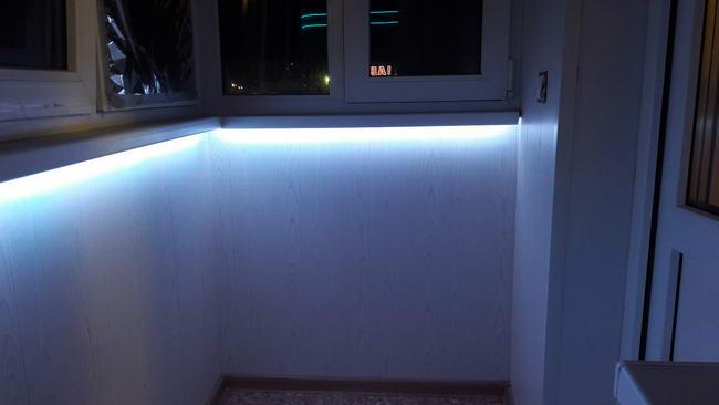 Подсветка подоконника на балконе своими руками очень умелые ручки