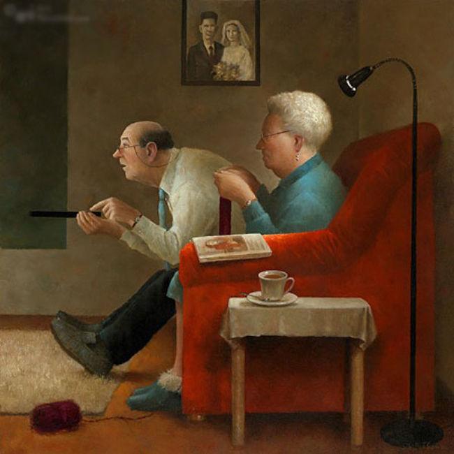 Когда старость в радость: оптимистичные работы голландского художника Marius van Dokkum, фото № 5