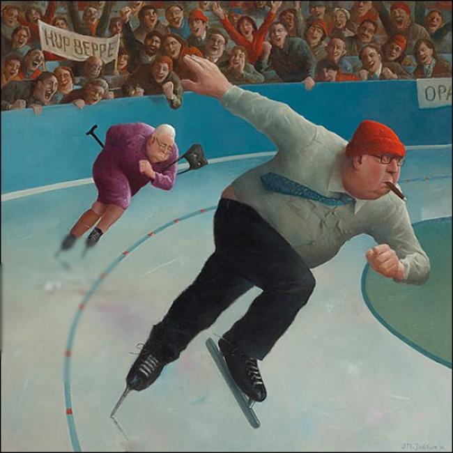 Когда старость в радость: оптимистичные работы голландского художника Marius van Dokkum, фото № 8