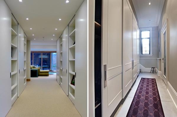 Шкафы купе в дизайне коридора