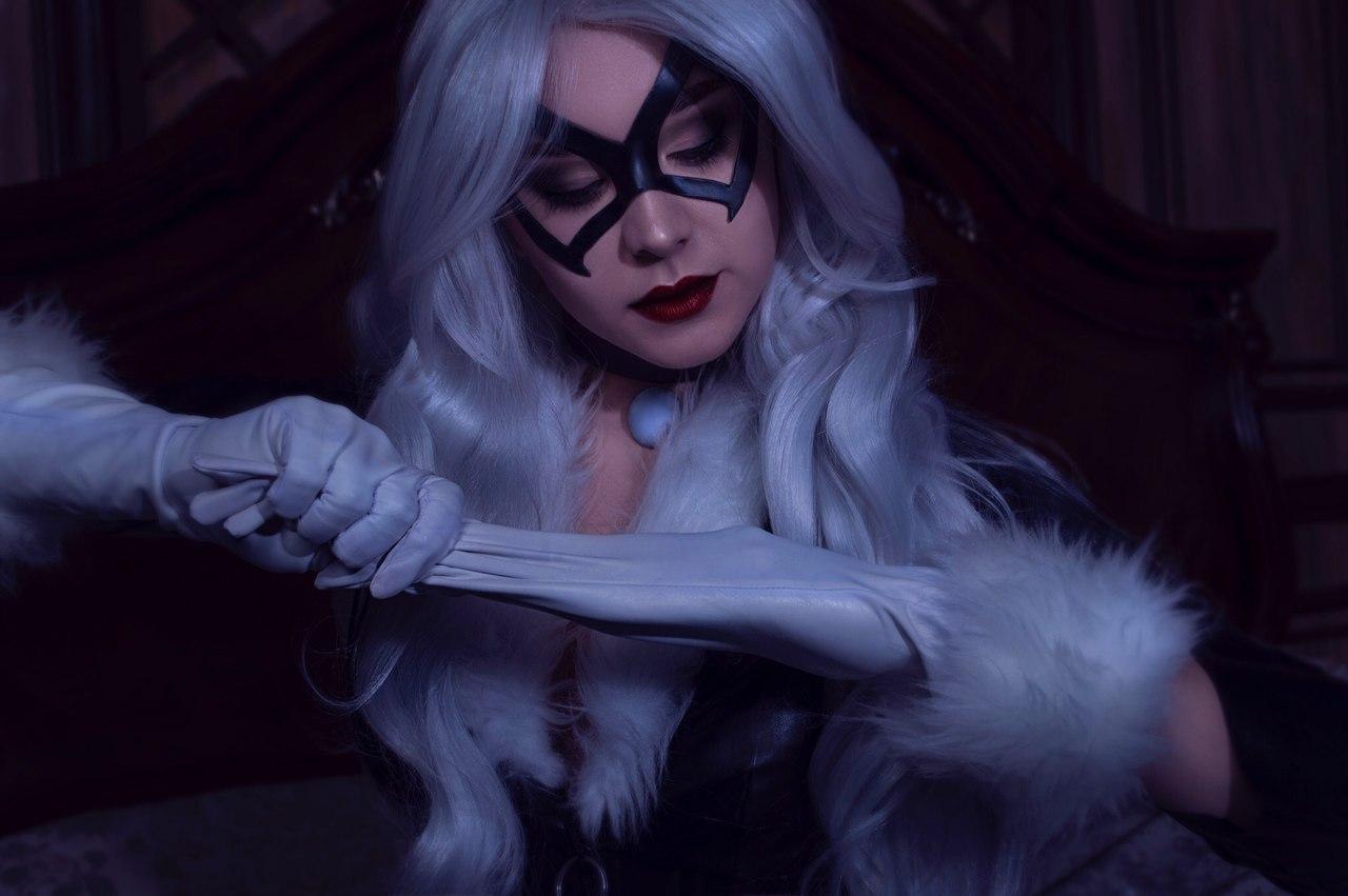 Мартовская Кошечка: Элегантный Косплей на Чёрную Кошку  в исполнении прекрасной Анастасии Черкашиной  Игры