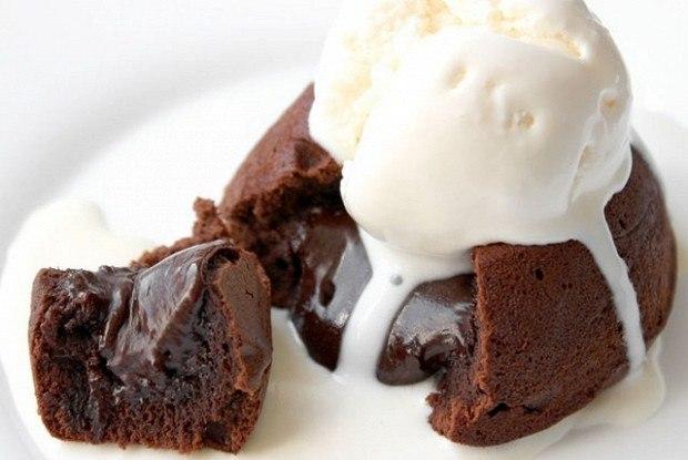 ДЕСЕРТНЫЙ ВИХРЬ. Шоколадные кексы с жидкой начинкой