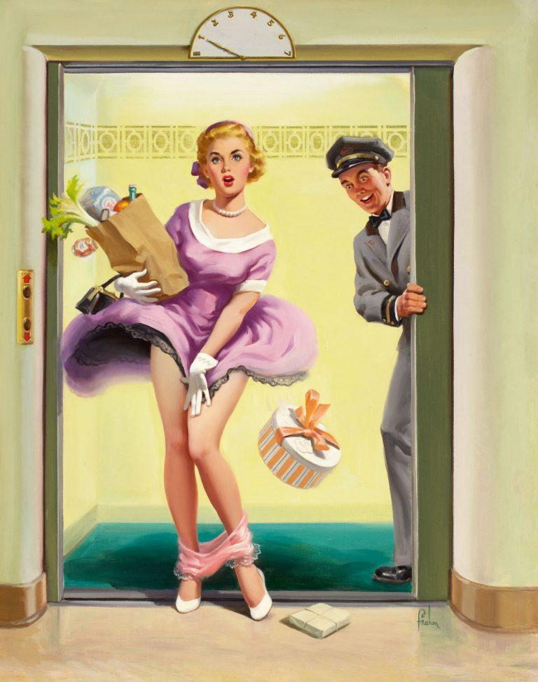 Art Frahm: упавшие трусики, женщины и сельдерей (1950-е)