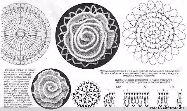 Кардиган крючком «Розовый сад». Схемы мотивов (6) (640x380, 206Kb)