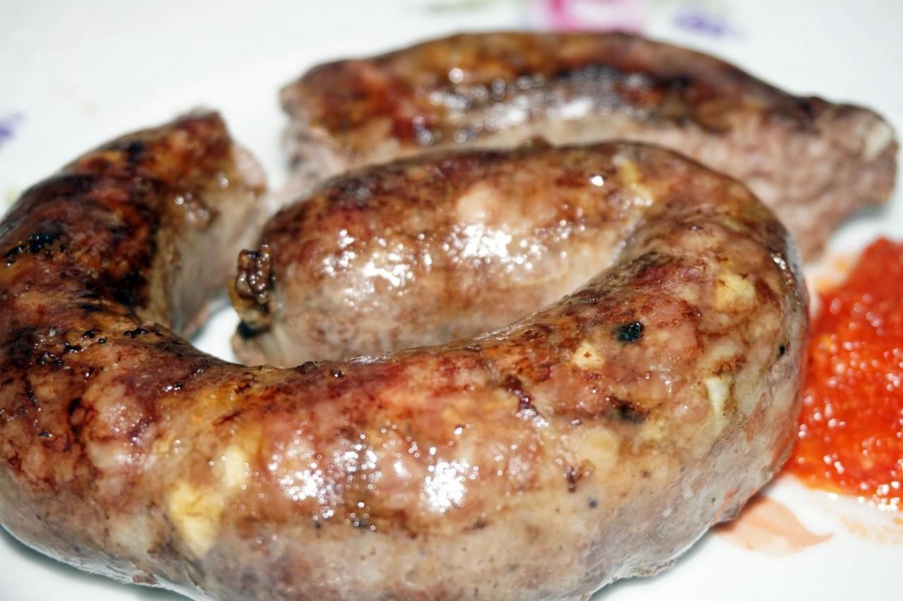 Колбаса домашняя  жареная