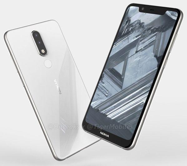 Смартфон Nokia 5.1 Plus показали на рендерах