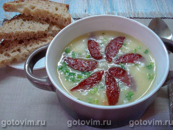 Немецкий картофельный суп. Фотография рецепта