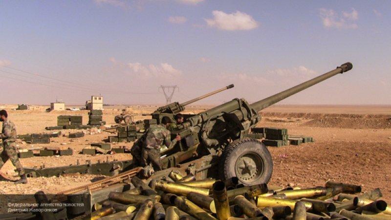 Сирийская артиллерия атаковала позиции боевиков в западной части Алеппо