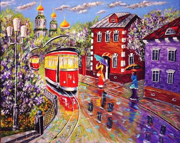 Художник Николай Пахомов. Шел по городу трамвай