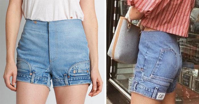 Перевернутые джинсовые шорты за 385$ – новое предложение для модниц. Есть первые покупатели!