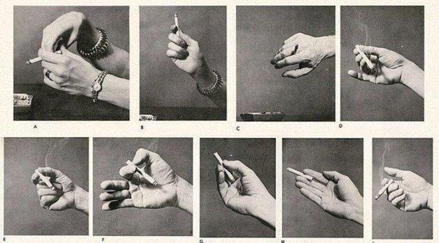 Определи характер человека по тому, как он держит сигарету