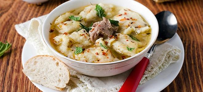 Как сделать галушки для супа