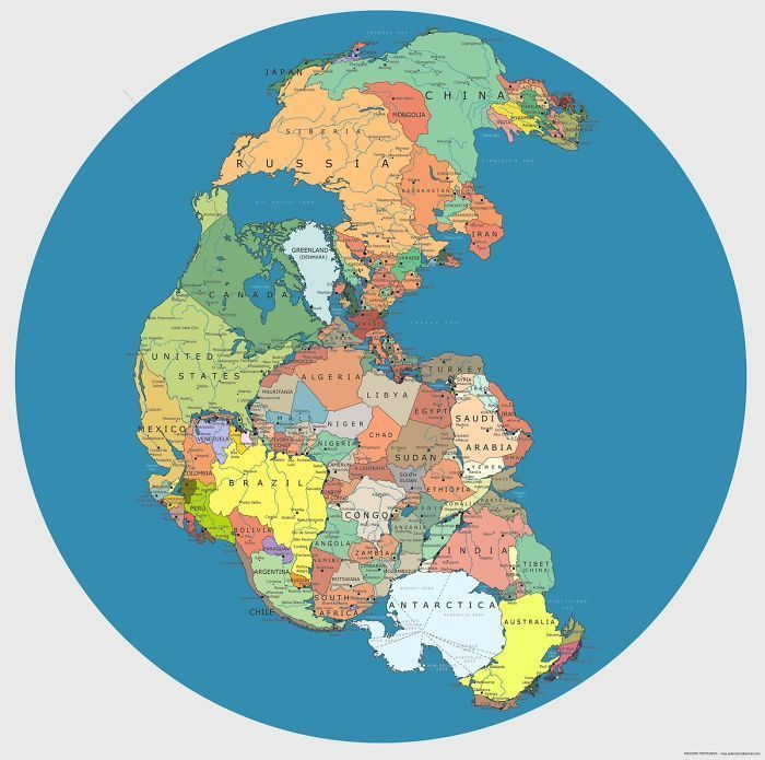 Как выглядела наша планета 300 миллионов лет назад интересное,континенты,планета