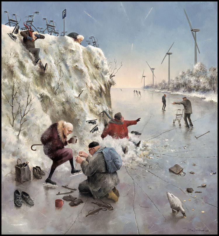 Когда старость в радость: оптимистичные работы голландского художника Marius van Dokkum, фото № 23