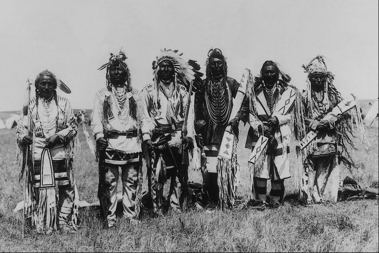 винтажная фото племен индейцев америки обеде