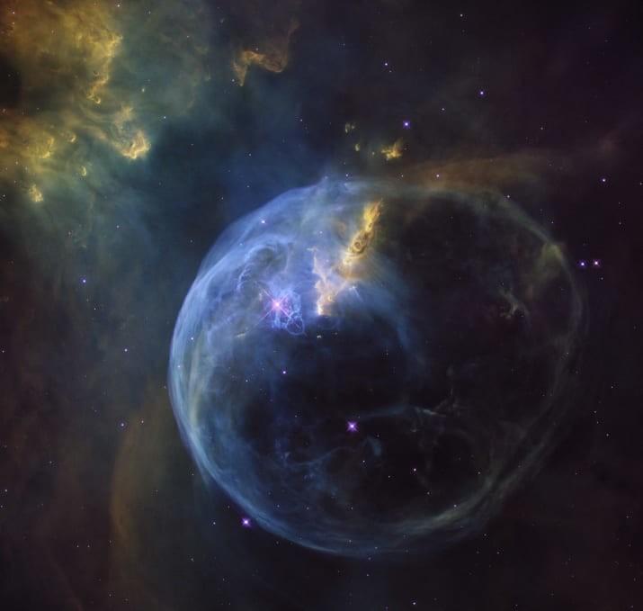 """Туманность """"Пузырь"""" ТУМАННОСТИ, звезды, космический телескоп, космос, необычно, планеты, снимки, фото"""