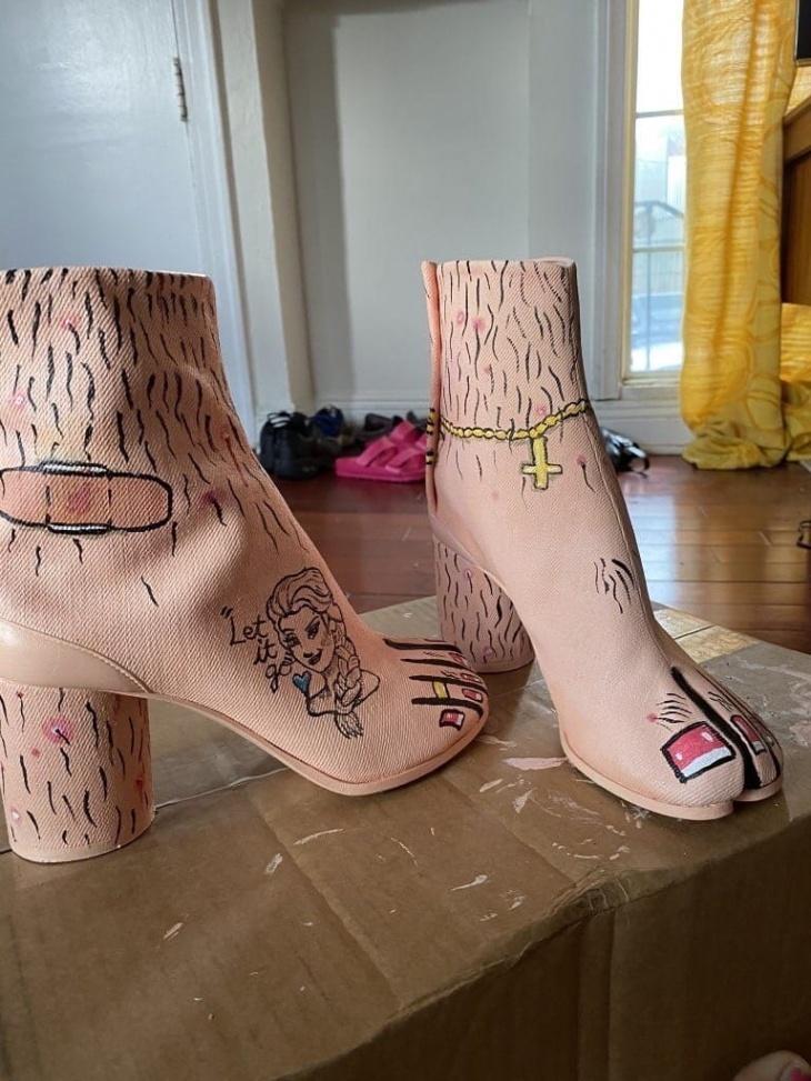 Ну очень креативные ботильоны вдохновляемся,креатив,обувь