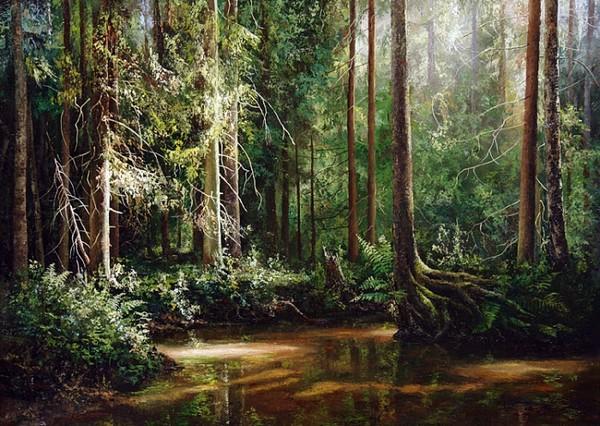 Прекрасная русская пейзажная живопись Евгения Бурмакина