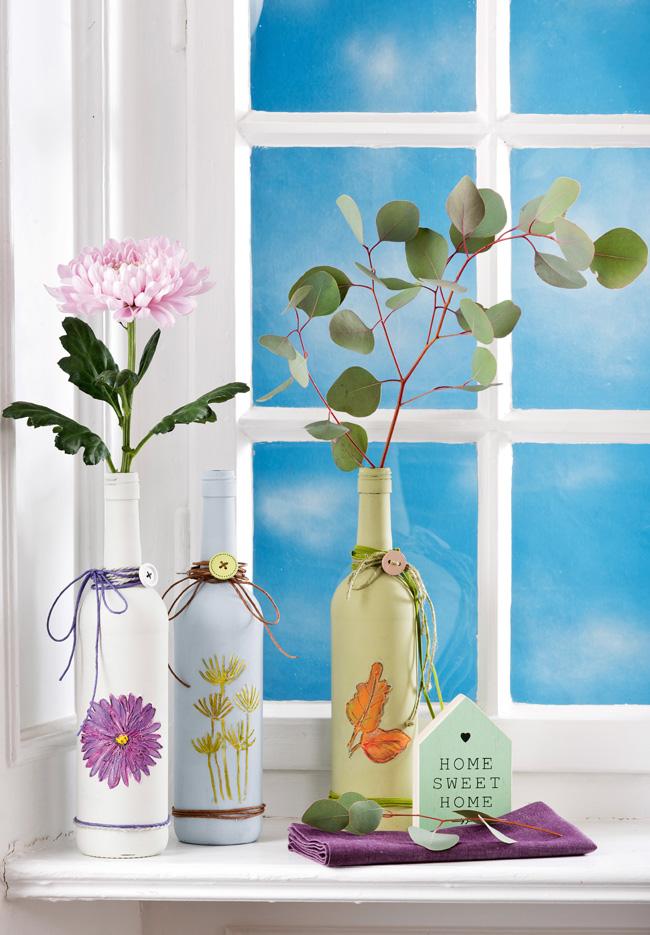 Как сделать вазу из бутылки своими руками