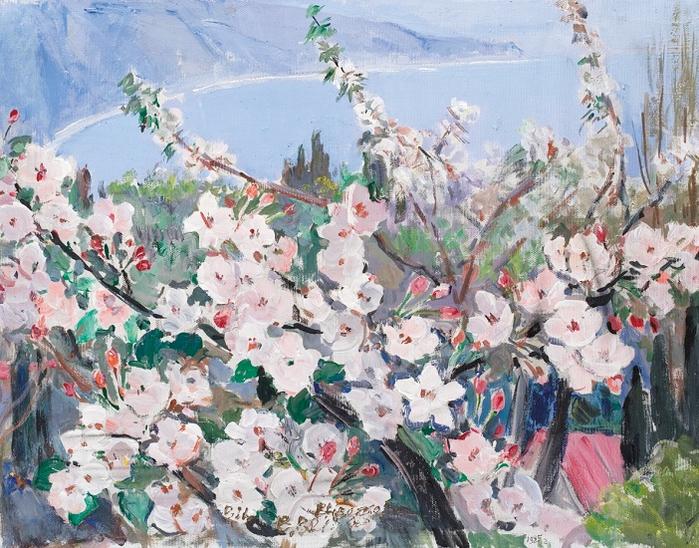 Весна. Цветет яблоня», 1984 (700x548, 525Kb)
