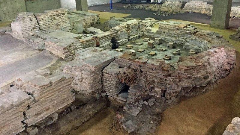 Римские термы в Биллингсгейте великобритания, достопримечательности под землей, интересно, история города, лондон, подземный Лондон, познавательно, путешествия