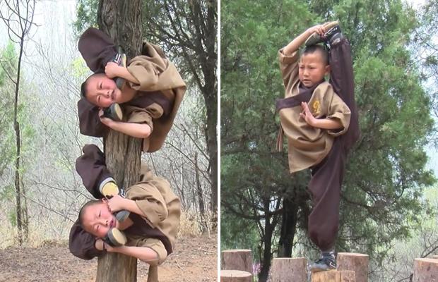 Тренировки подрастающих монахов Шаолинь жесть,монастырь,тренировки,Шао-Линь