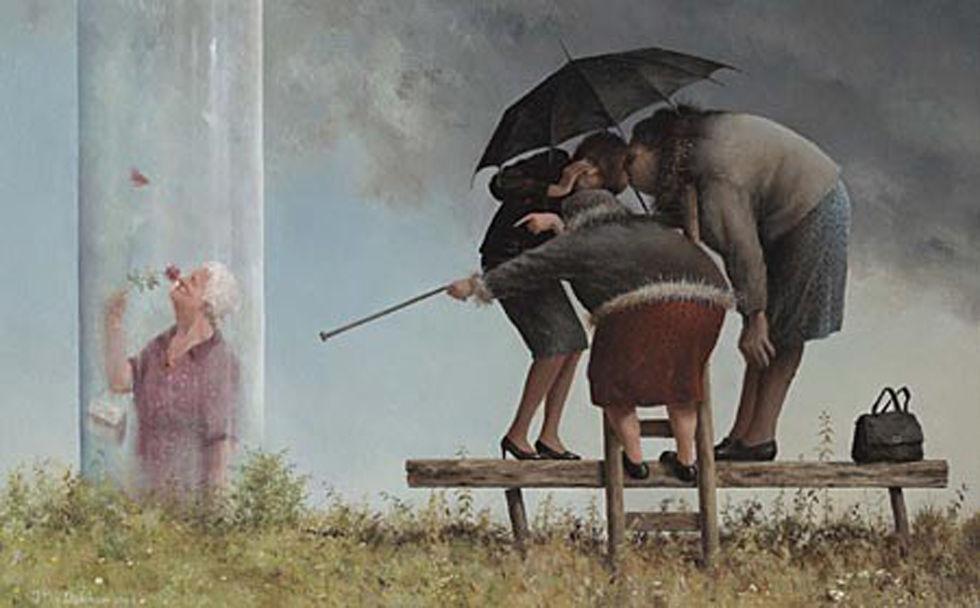 Когда старость в радость: оптимистичные работы голландского художника Marius van Dokkum, фото № 20