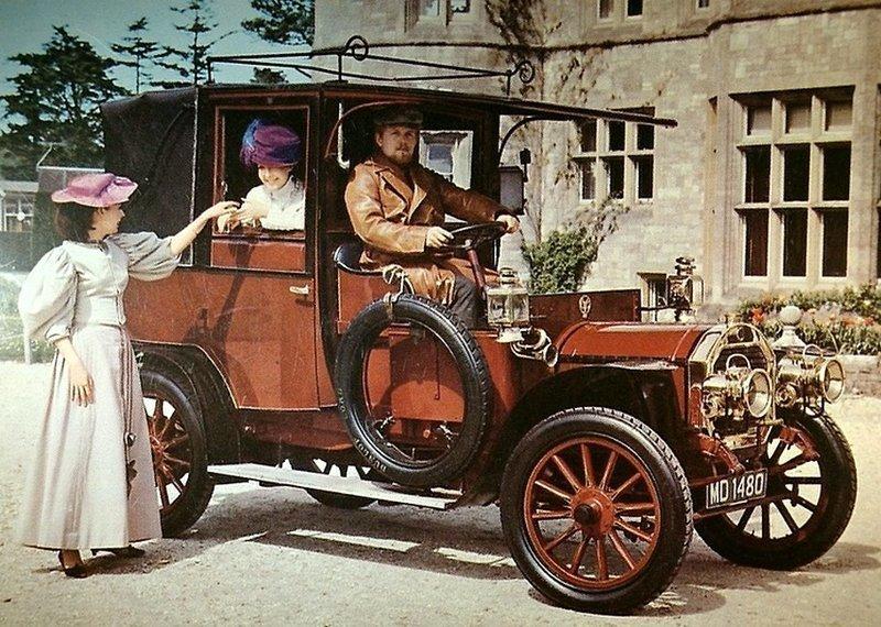 Такси 1908 года - версия для водителей-купе Unic Taxi-cab Весь Мир в объективе, ретро, старые фото