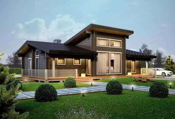 красивые деревянные одноэтажные дома, фото 29
