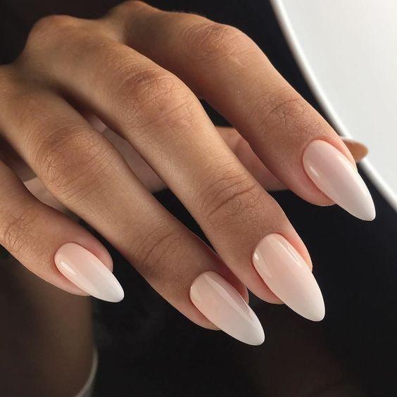 Миндалевидная форма ногтей - тренды маникюра 2019